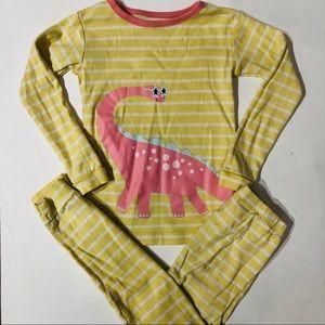 Babygap 5 striped dinosaur pajama set